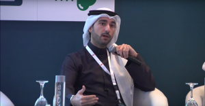 Abdullah Almoayed, CEO and Founder of Tarabut Gateway speaking at a conference