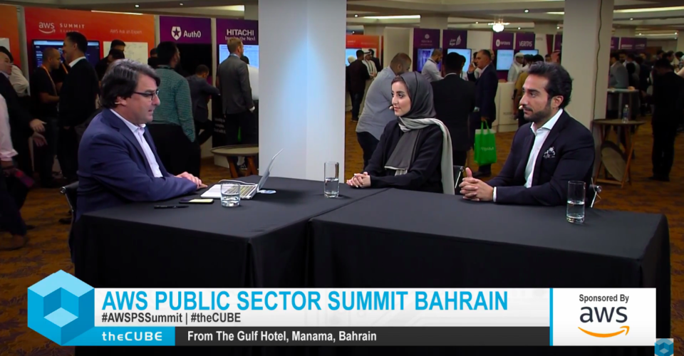 Yasmeen Al Sharaf, Head of Fintech & Innovation Unit, Central Bank of Bahrain AND Abdulla Almoayed, Founder & CEO, Almoayed Technologies, talk with John Furrier