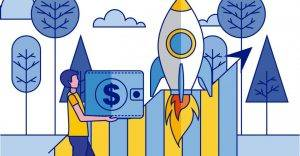 Countries ready for Open Banking as depicted by a launching rocket ship
