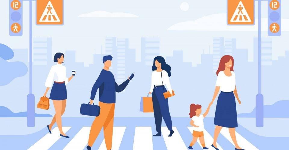 Animation of People Walking Around