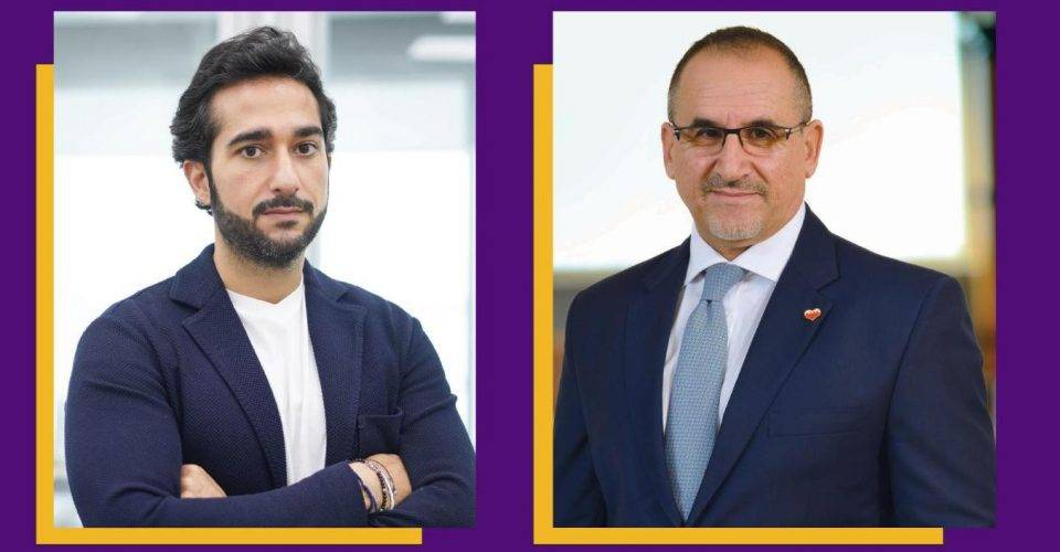 Abdulla Almoayed, CEO of Tarabut Gateway and Hassan Jarrar, CEO BisB