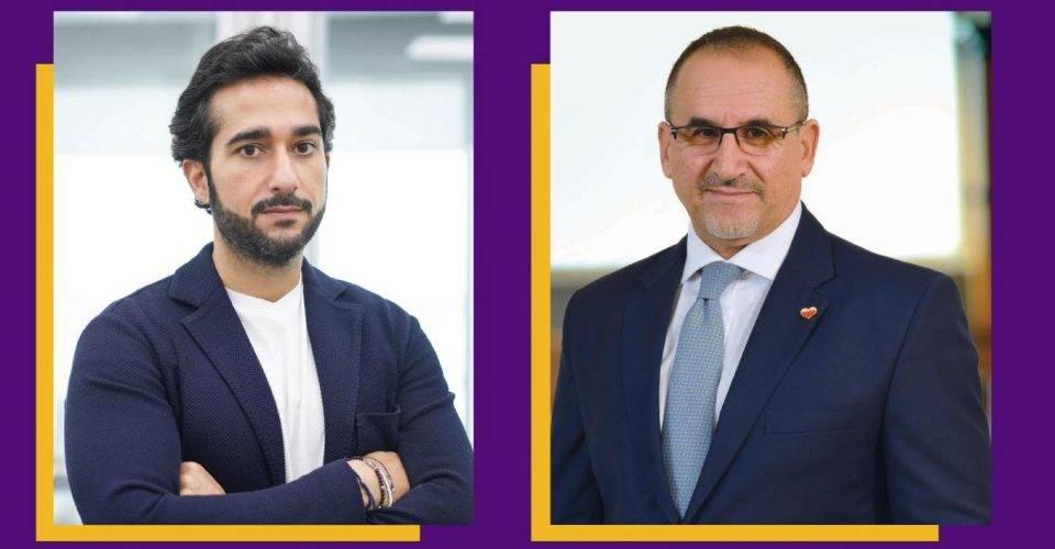 Abdulla Almoayed, CEO of Tarabut Gateway and Hassan Jarrar, CEO BisB