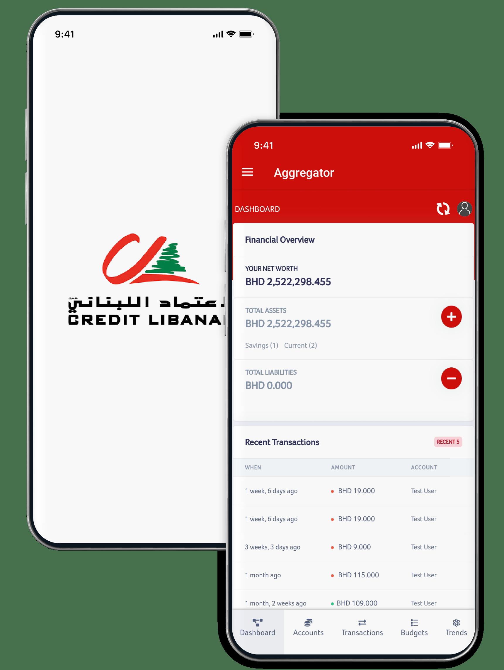 Account Aggregation - Credit Libanais